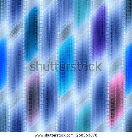 blue seamless weaving wood  texture  pattern under glass - stock photo