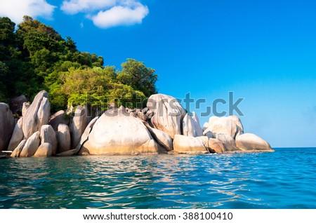 Blue Seascape Beautiful Sea  - stock photo