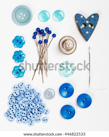Blue Sewing accessories