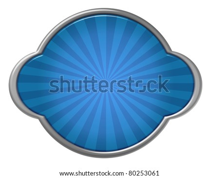 blue shield with silver metallic edge over white background