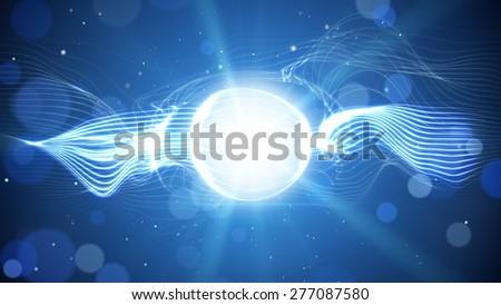 blue shining light futuristicbackground - stock photo
