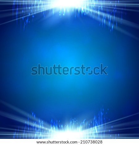 Blue shining magic light background  raster version - stock photo