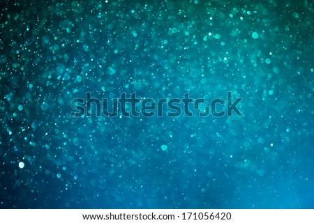 blue shiny bokeh background - stock photo