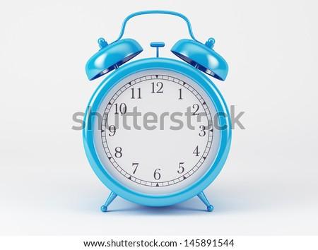 Blue Shiny Clock   - stock photo