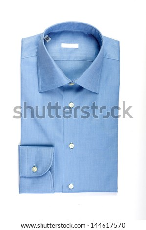 blue shirt isolated on white background fashion and clothing con - stock photo