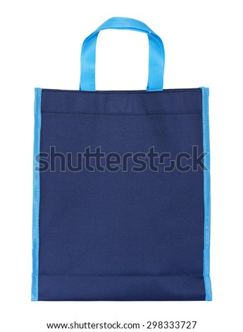 blue shopping bag isolated on white with clipping path