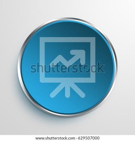 Blue Sign Graph Presentation Symbol icon Business Concept