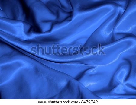 Blue silk - stock photo