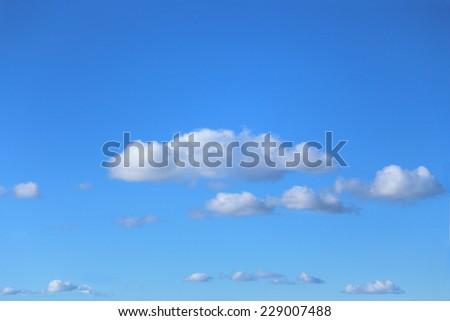 blue skies - stock photo