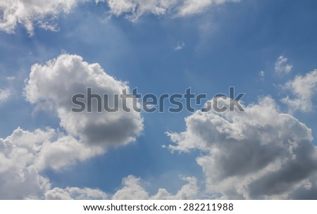 blue skies and cloud - stock photo