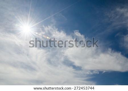 blue sky  - stock photo