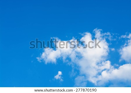 Blue sky and beautiful cloud - stock photo