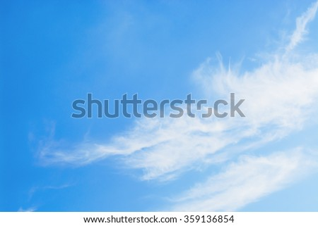 Blue sky and beautiful cloud as background texture