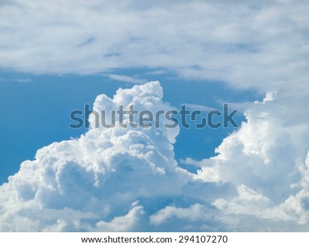 blue sky and beautiful clouds - stock photo