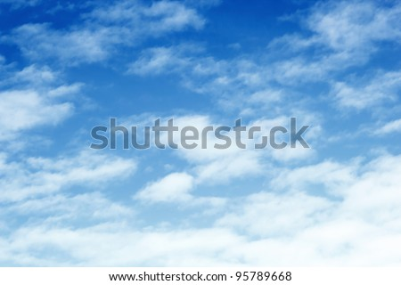 Blue Sky and Cloud Background - stock photo