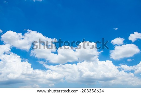 Blue sky and cloud from nature