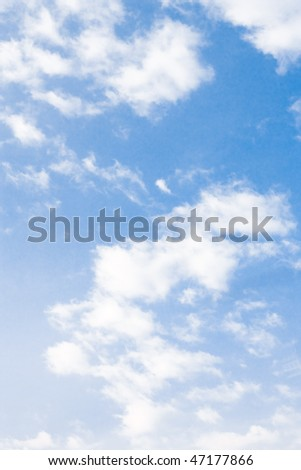 Blue sky and clouds - stock photo