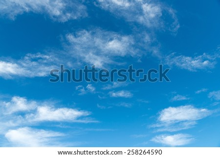 Blue sky and clouds abstract background  - stock photo