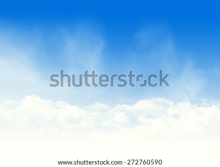 Blue sky and clouds abstract background illustration with copy space - stock photo