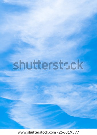 blue sky and clouds - bright heavenly beauty peaceful weather summer white daylight