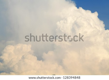 Blue sky and clouds for with background