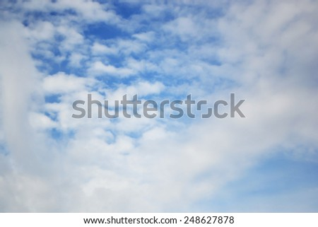 Blue sky and clouds, may be used as background.