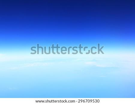 Blue sky and Mountain Fuji fujisan from Japan - stock photo