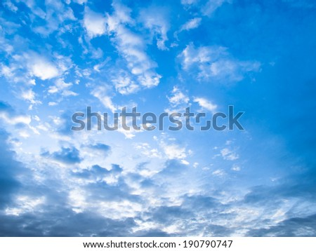 Blue Sky and small clound