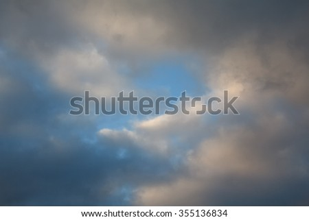 Blue sky and storm clouds. Nature - stock photo