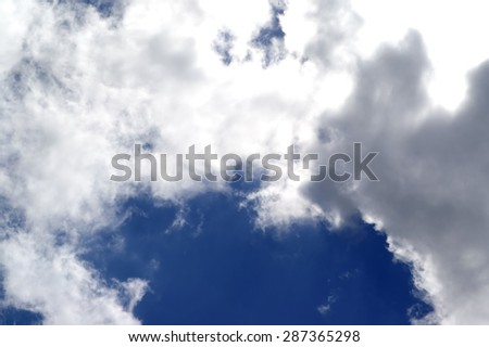 Blue sky and sunlight clouds - stock photo