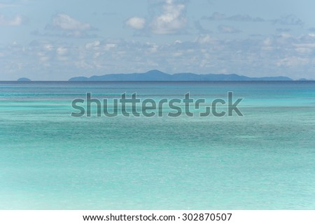 blue sky and water of ocean