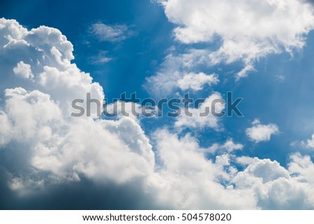 blue sky and white cloud, natural background