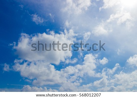 blue sky and white cloud on day