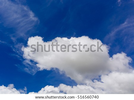 blue sky and white cloud on day time for background