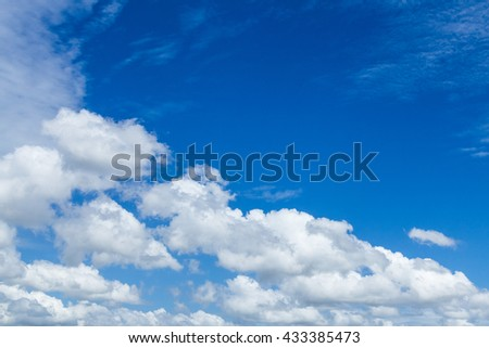 Blue sky and white cloud on Morning.