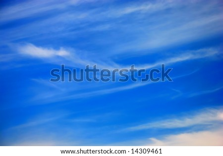Blue sky and white clouds as a background