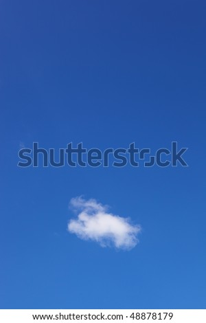 Blue sky and white puffy clouds - For use as fill in backgrounds in designs and photo retouching - stock photo