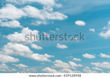 Blue sky and with cloud