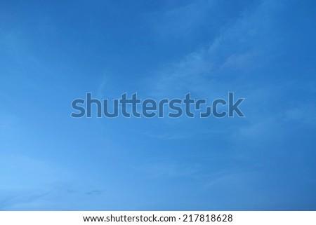 Blue sky background - stock photo