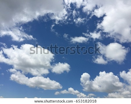 blue sky background and cloud