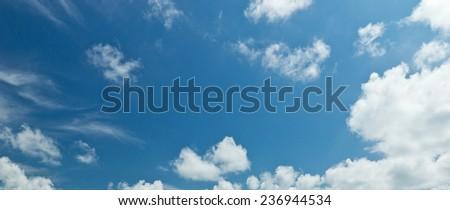 Blue Sky background , clear sky - stock photo