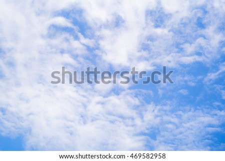 Blue sky background texture white clouds abstract light tone