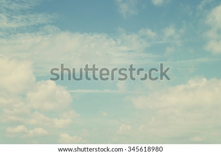 Blue sky background, white clouds in blue sky