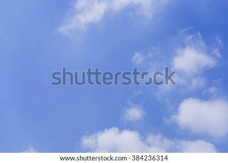 blue sky background with  clouds - stock photo