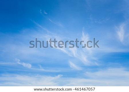 blue sky background with clouds in thailand