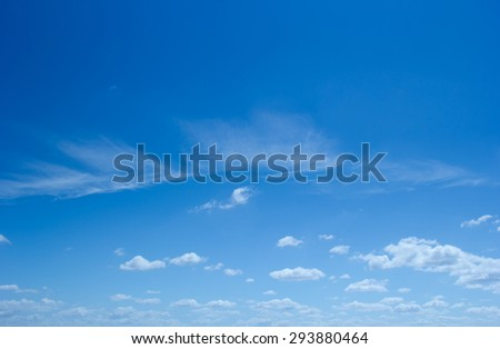Blue sky background with cloudy. - stock photo