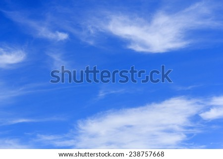 Blue sky background with tiny white cloud.