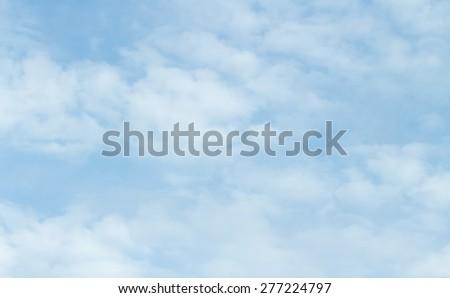 blue sky clouds