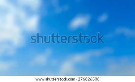 Blue sky clouds blurred background