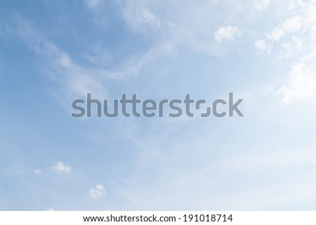 blue sky clouds, nature  background - stock photo